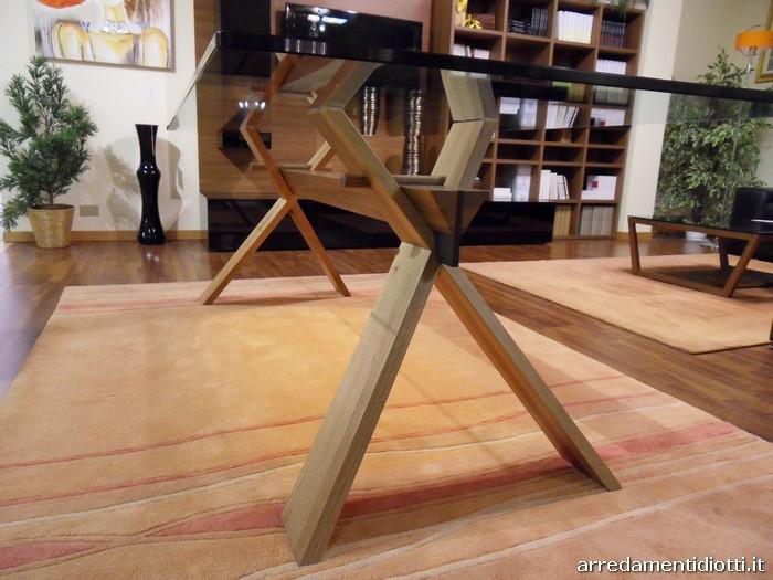 Tavolo cavalletto con base a incastro in noce diotti a f arredamenti - Cavalletto tavolo ...
