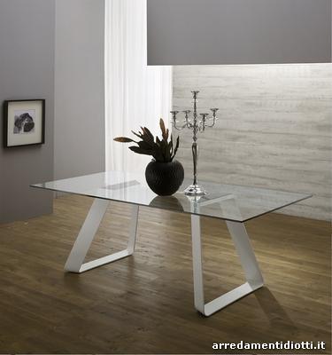 Tavolo fisso in vetro o legno massello mr big diotti a f for Mr arredamenti