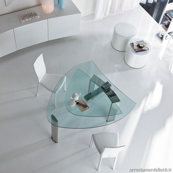 Tavolo daytona allungabile con braccio girevole diotti a for Tavolo ovale in vetro allungabile