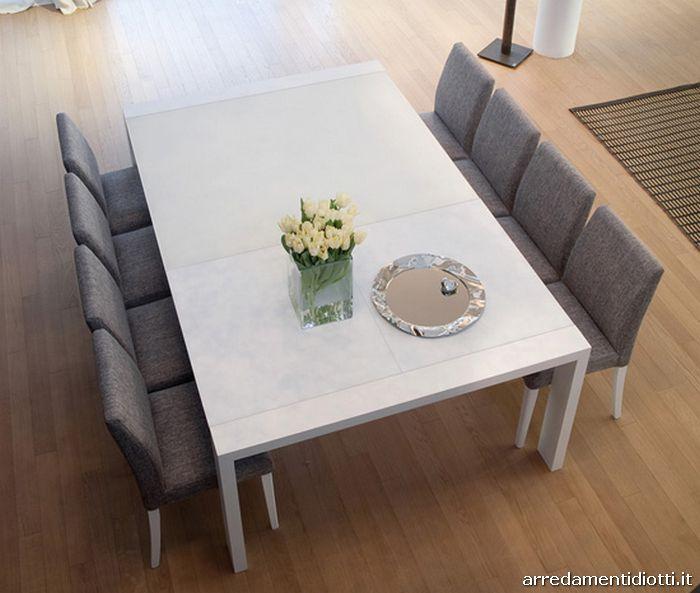 Tavolo moderno allungabile fashion diotti a f arredamenti for Sedie design tortora